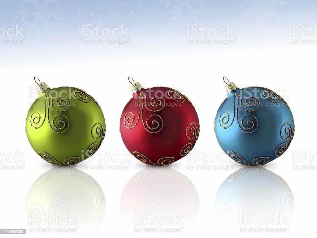 Trio Glass Ornament stock photo
