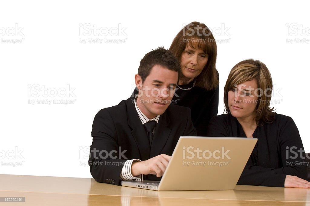 Trio of Business Associates royalty-free stock photo