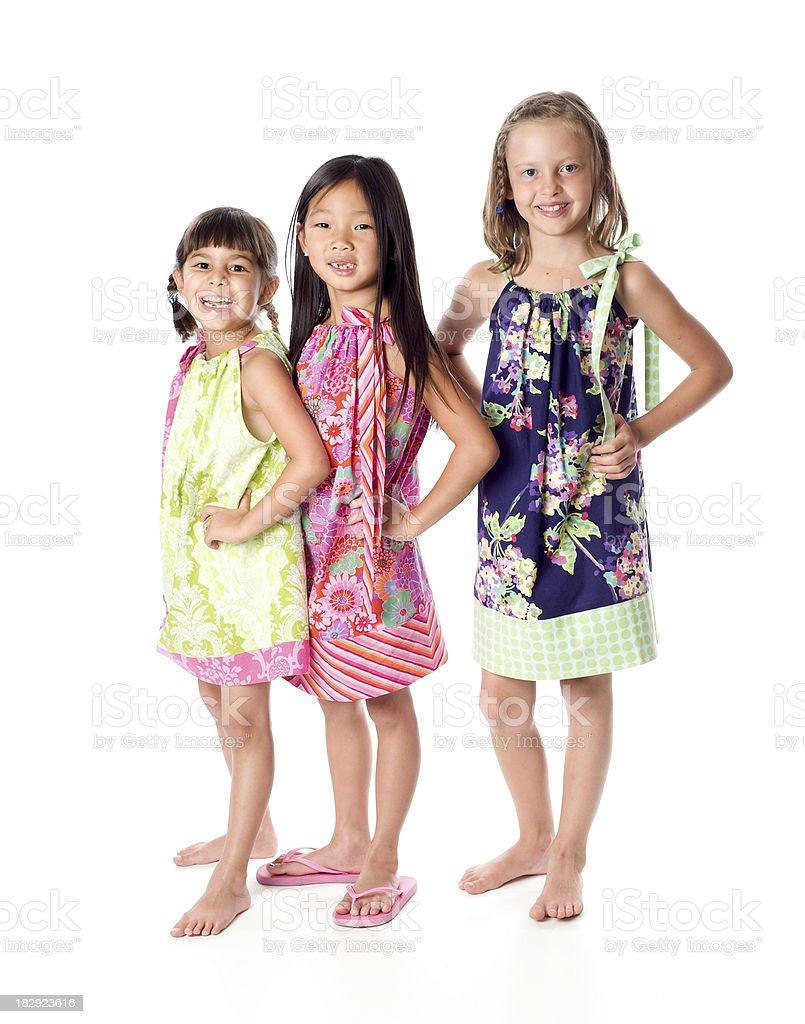 Trio of Friends stock photo