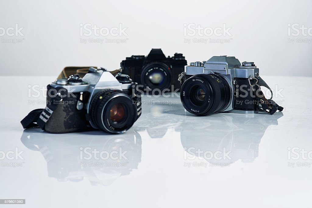 Trio of image makers stock photo