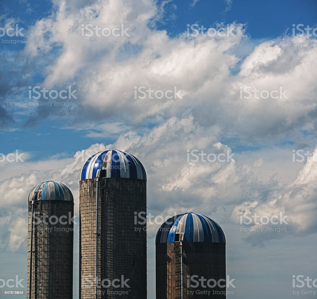 Trio of Silos stock photo