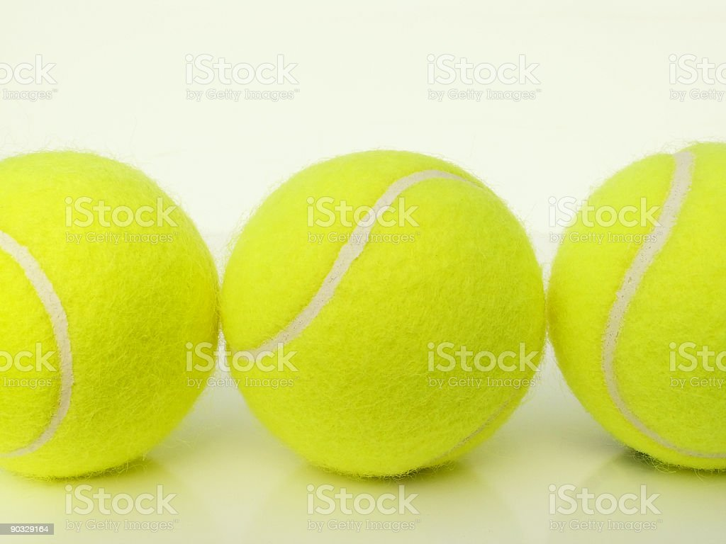 trio of tennis balls royalty-free stock photo