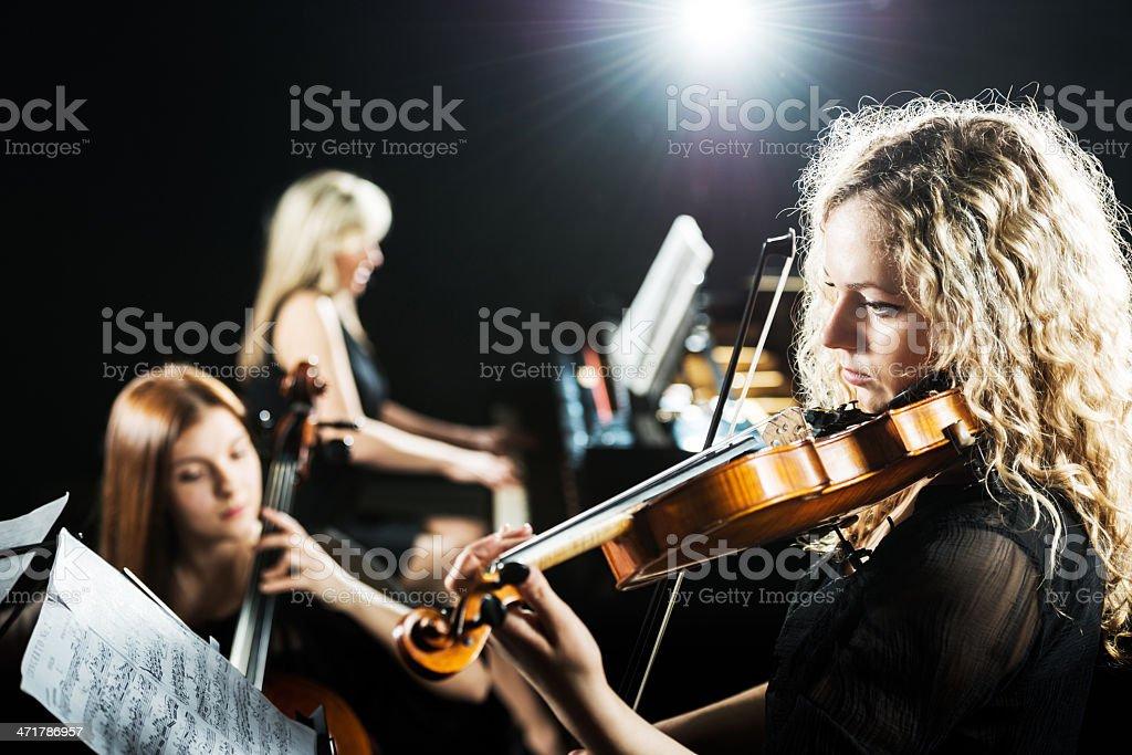 Trio orchestra. royalty-free stock photo