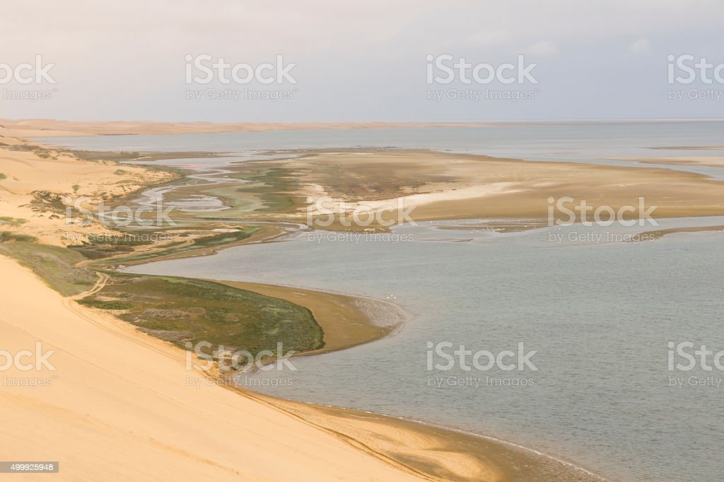 Trip from Walvis Bay to Sandwich Harbour, Namibia stock photo
