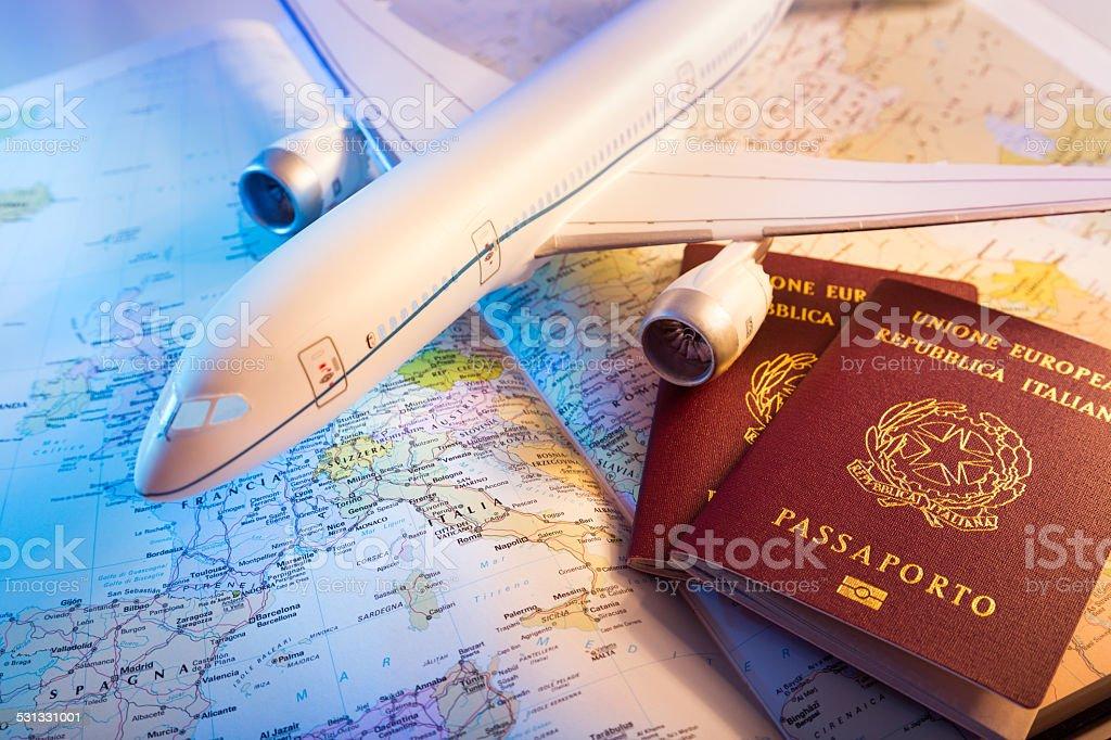 trip in Europe stock photo