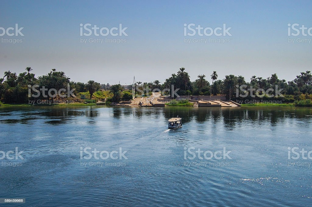trip on the Nile on ships stock photo