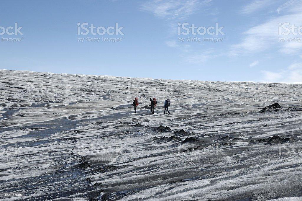 Trip on Vatnajokull glacier, Iceland royalty-free stock photo