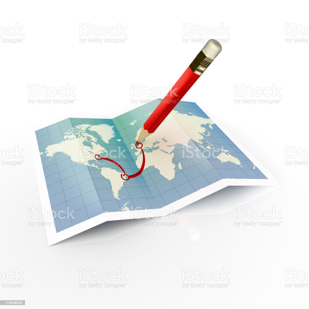 Trip Plan royalty-free stock photo