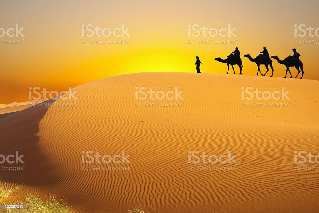 Trip to the Sahara stock photo