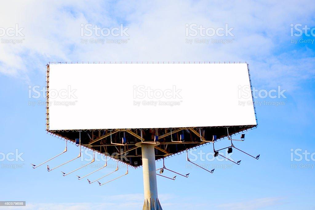 tripartite empty billboard stock photo