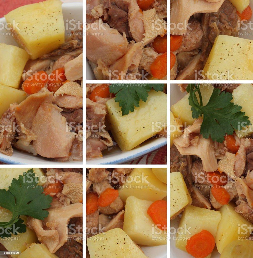 Tripes cuisinées - Cuisine française stock photo