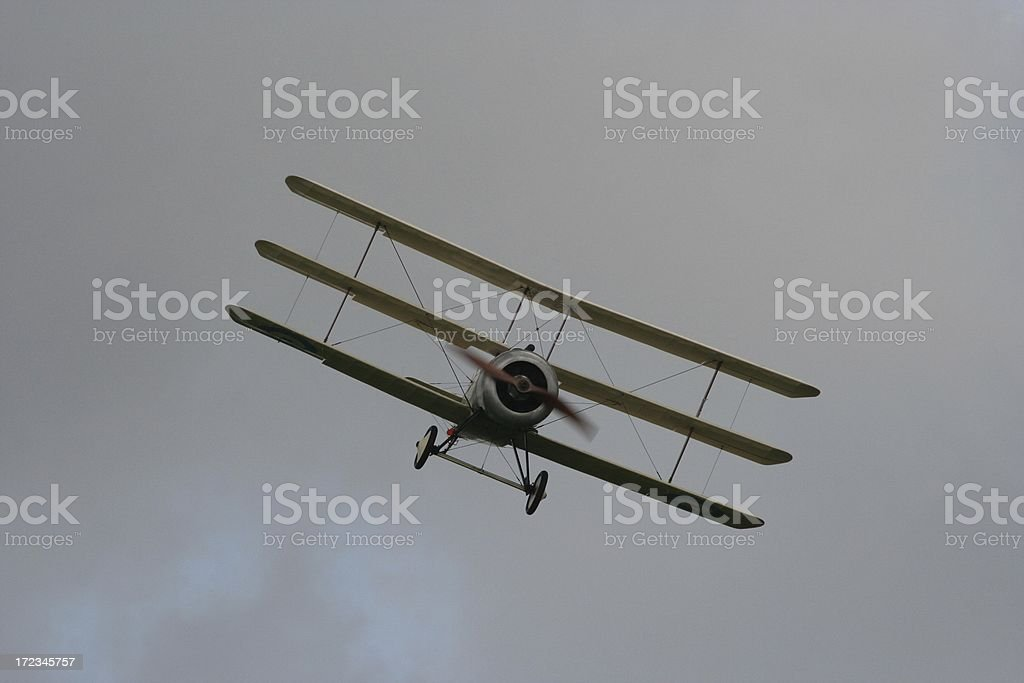 WWI Triplane royalty-free stock photo