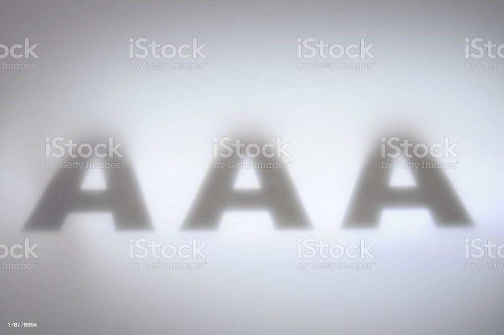 Triple A for finance background royalty-free stock photo