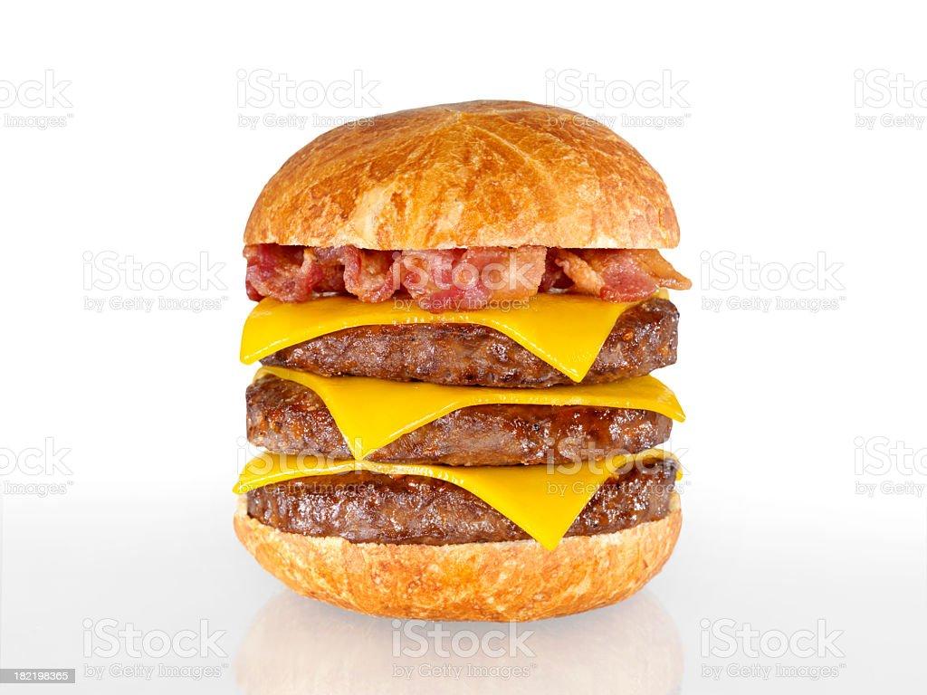 Triple Bacon Cheeseburger royalty-free stock photo