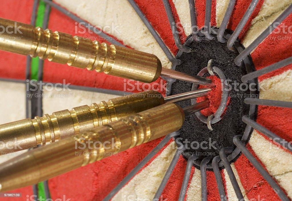 Triple Bullseye royalty-free stock photo