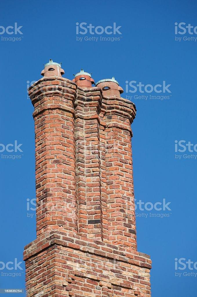 Triple Chimney royalty-free stock photo