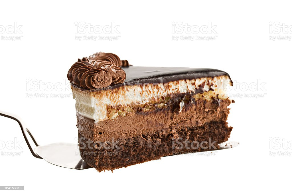 Triple Chocolate Mousse Cake royalty-free stock photo