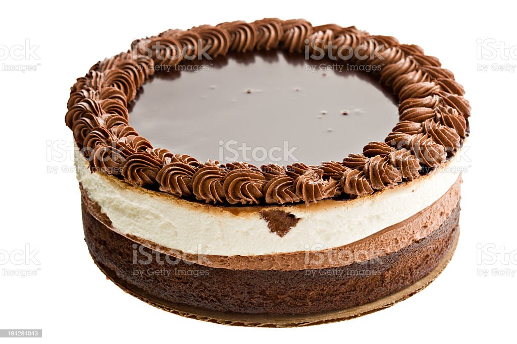 Triple Chocolate Mousse Cake royalty-free stock photo
