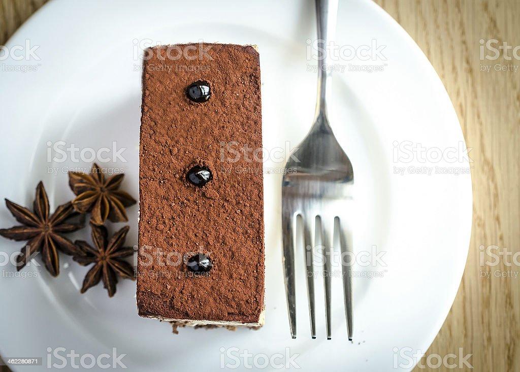 Triple Chocolate Mousse Cake stock photo