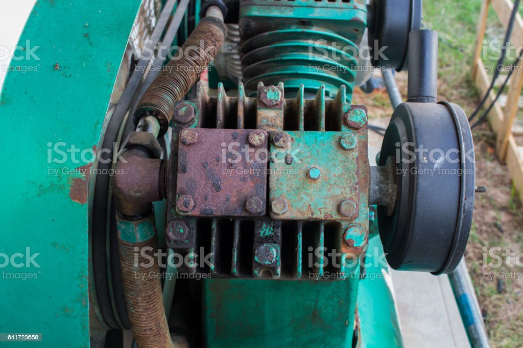 Triple Cylinder Reciprocating Air Compressors on Industry stock photo