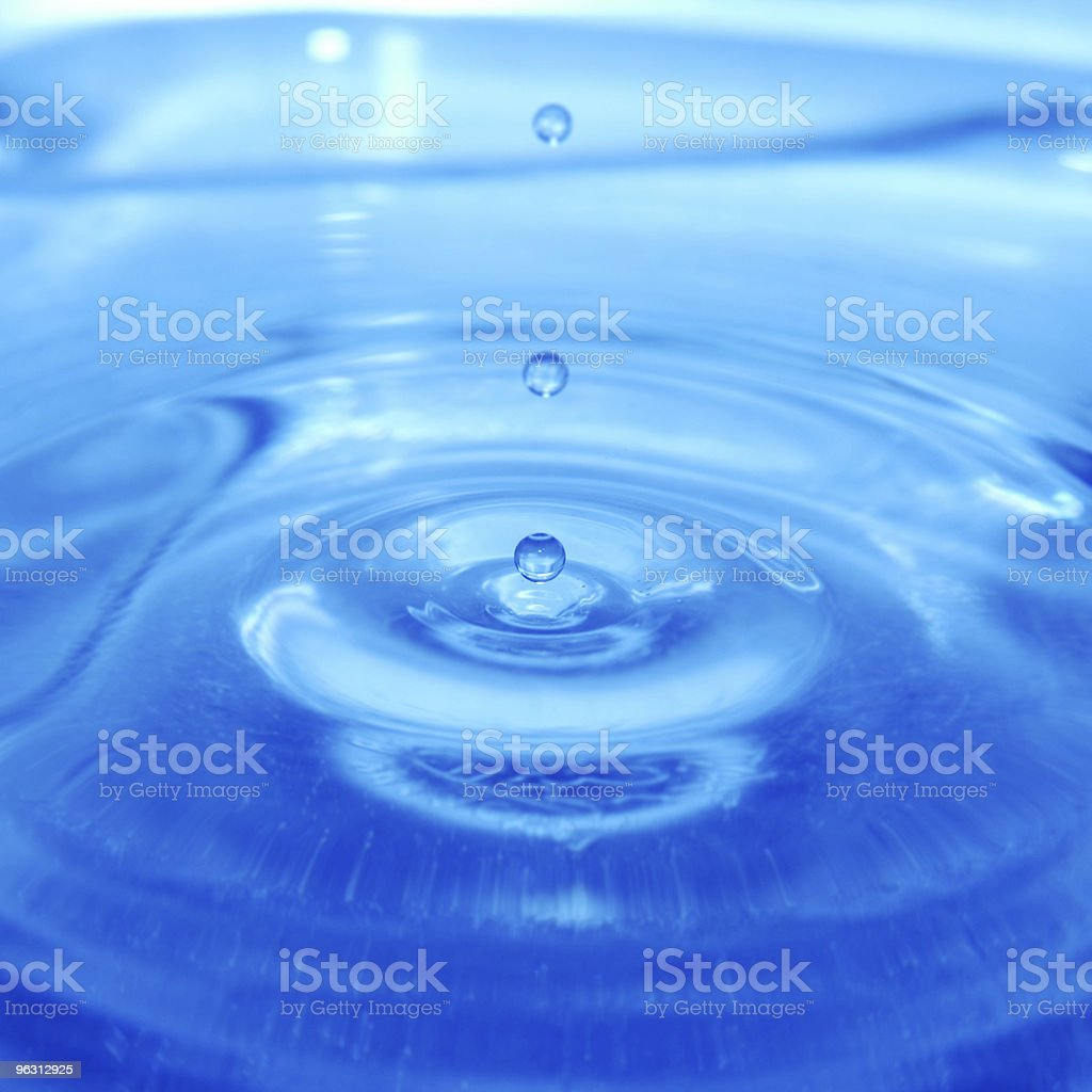 Triple droplet royalty-free stock photo
