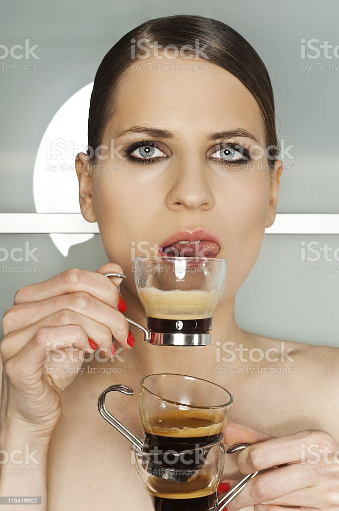 triple espresso royalty-free stock photo