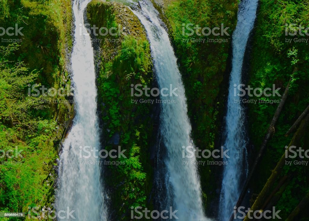 Triple Falls Angle stock photo
