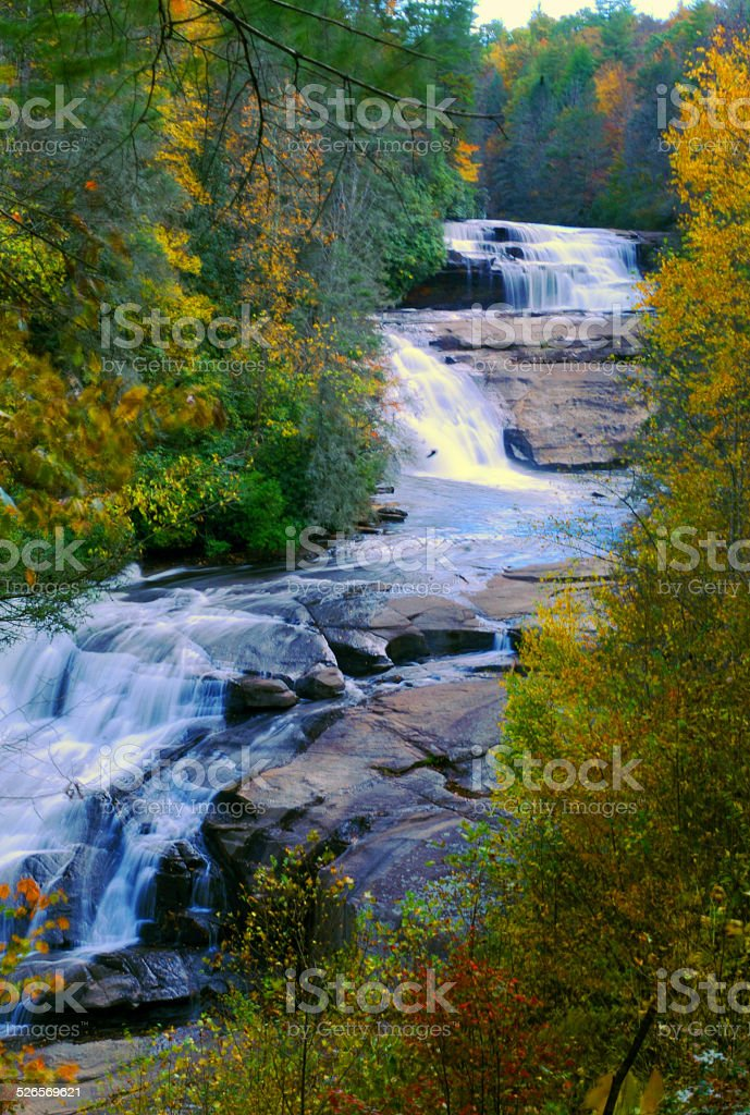 Triple Falls, Dupont State Forest stock photo