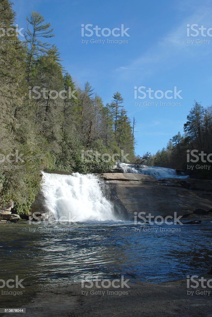 Triple Falls in DuPont State Forest stock photo