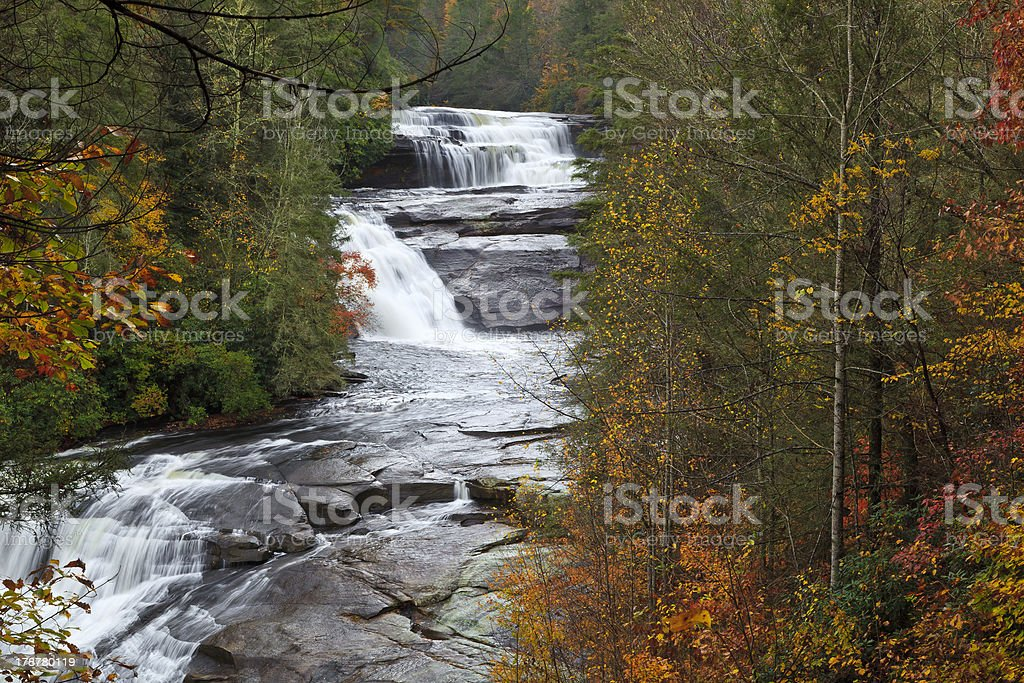 Triple Falls in North Carolina stock photo