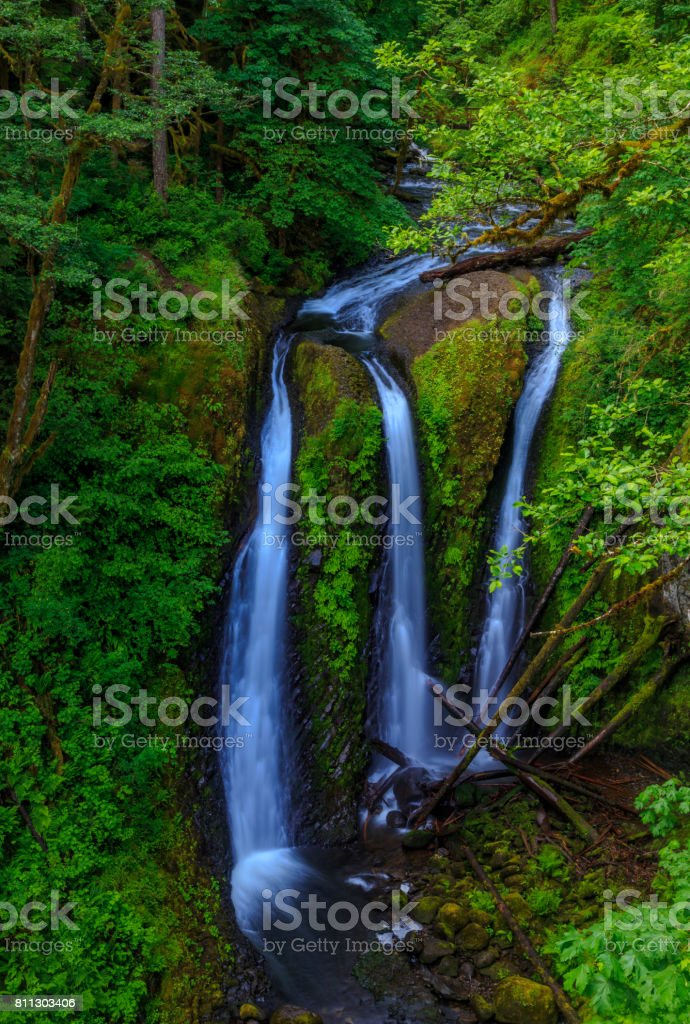 Triple Falls stock photo