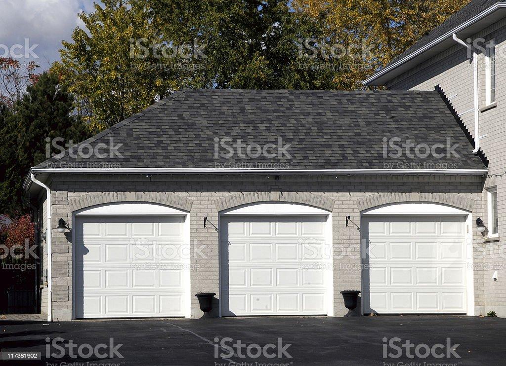 Triple garage royalty-free stock photo