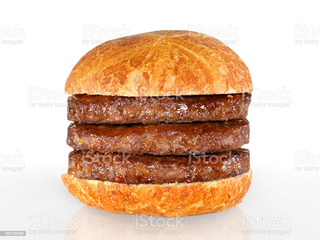 Triple Hamburger royalty-free stock photo