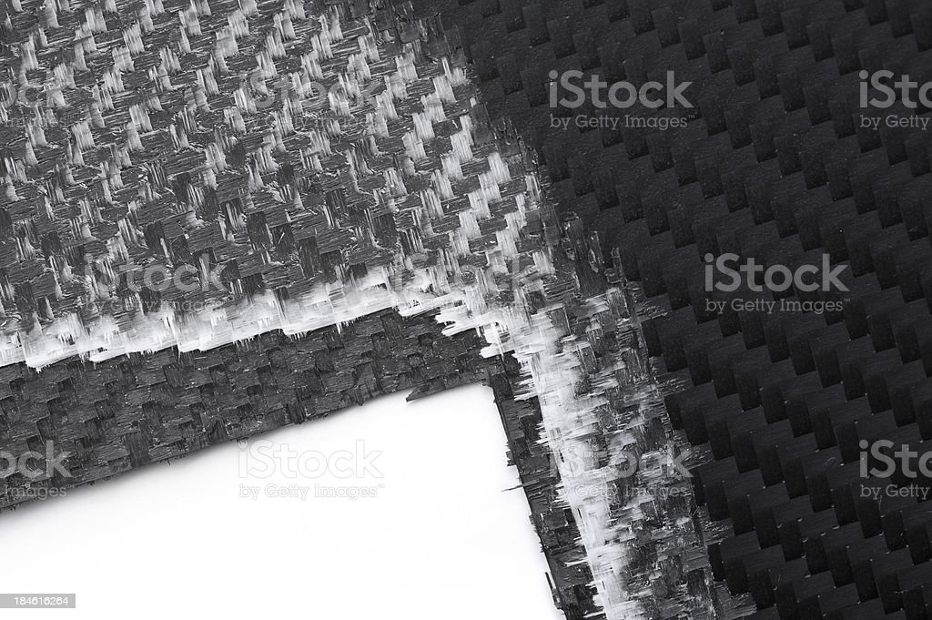 Triple layer carbon fibers royalty-free stock photo