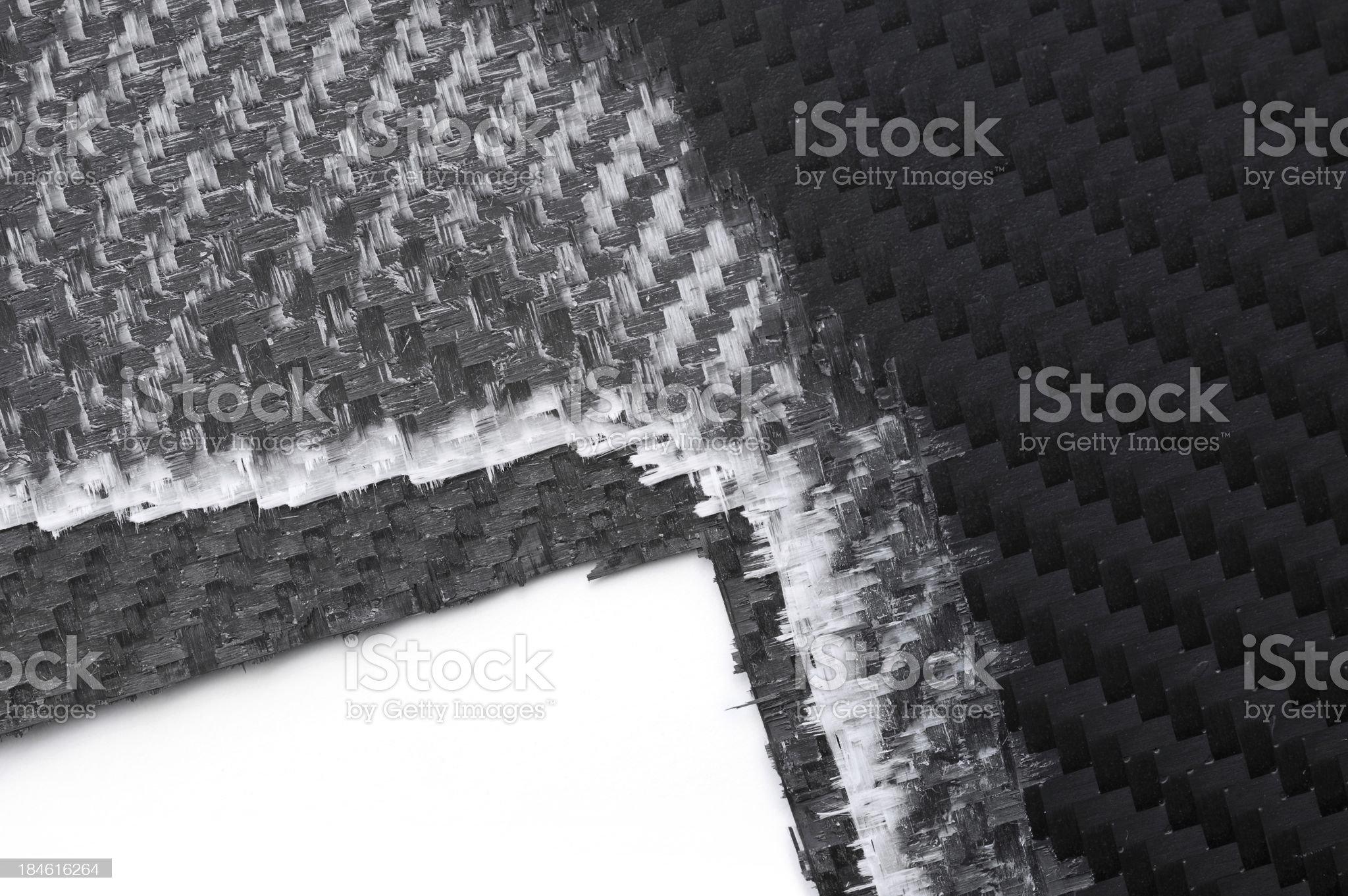 Triple layer carbon fibers royalty-free stock photo