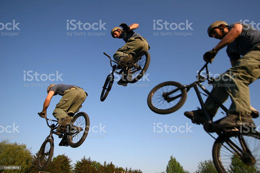 BMX triple stock photo