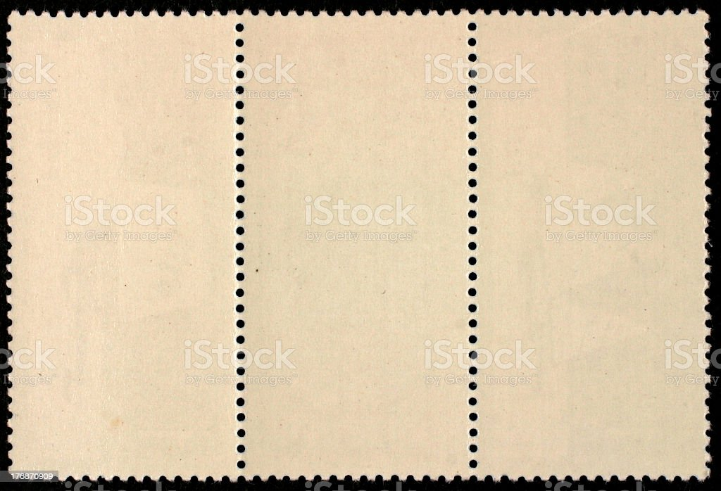 Triple postage stamp royalty-free stock photo