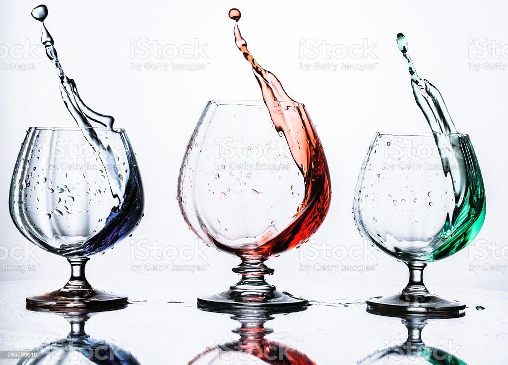 Triple Splash stock photo