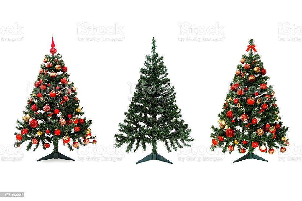 Triple tree stock photo