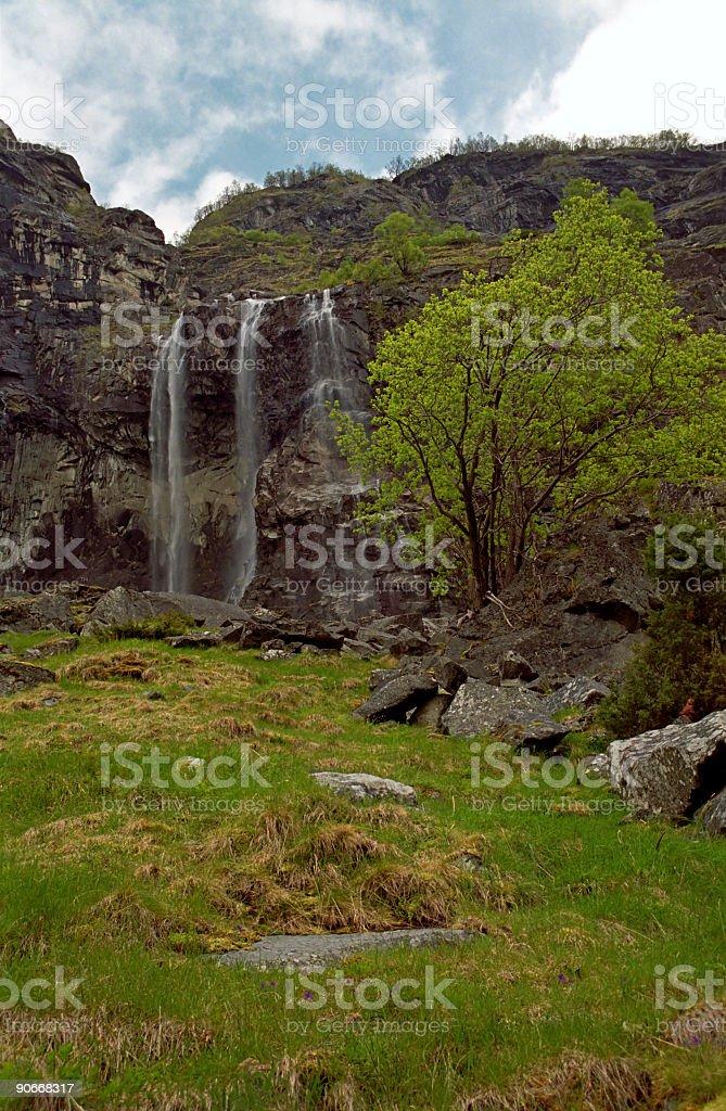 Triple Waterfall stock photo