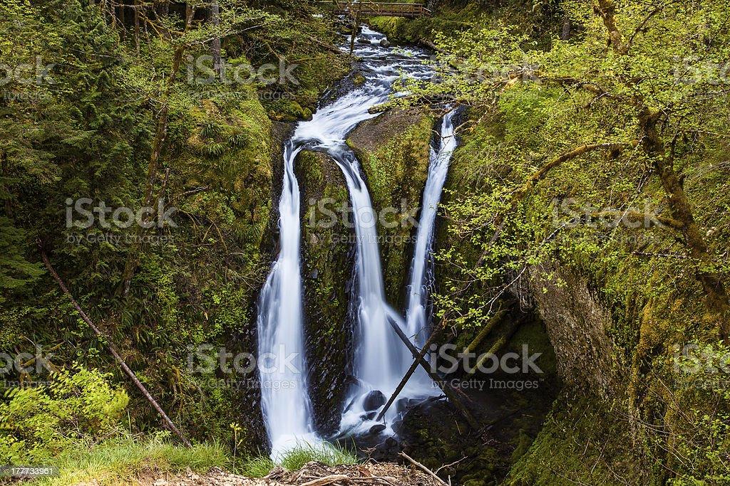 Triple Waterfalls royalty-free stock photo