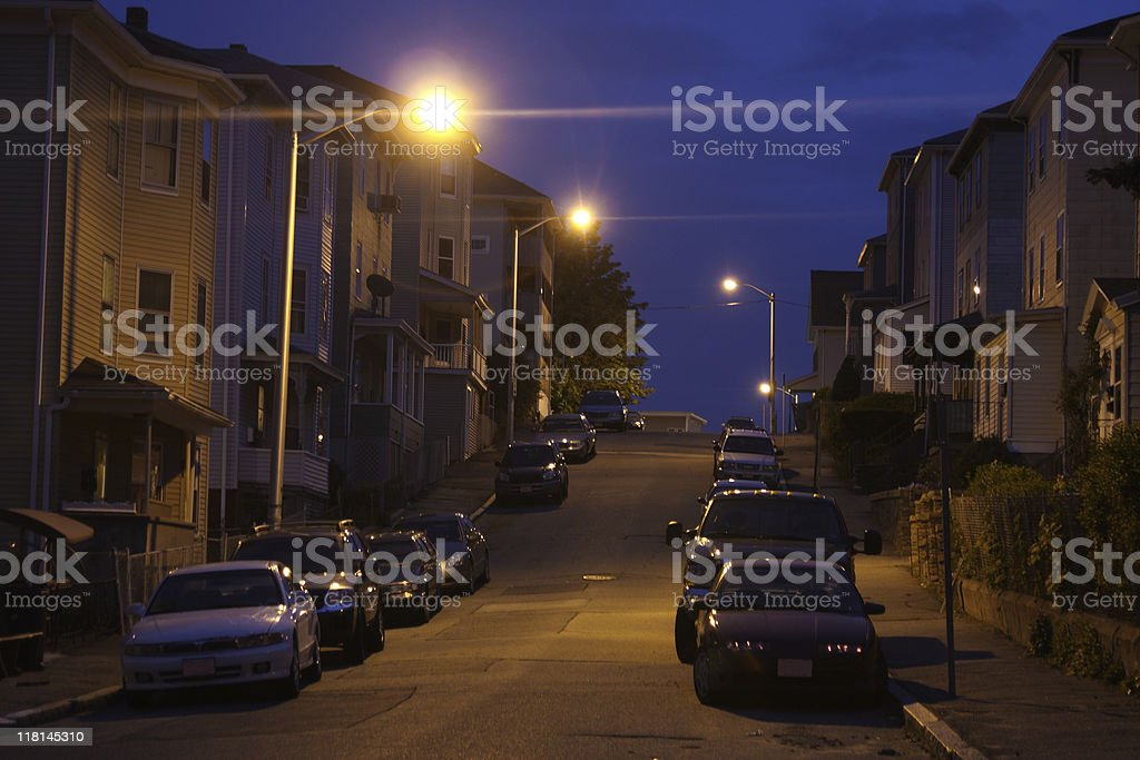 Triple-Decker Homes royalty-free stock photo