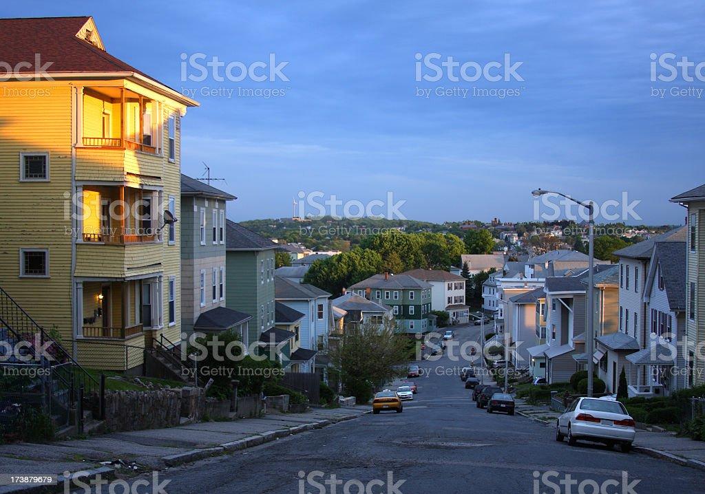 Triple-Decker Homes stock photo