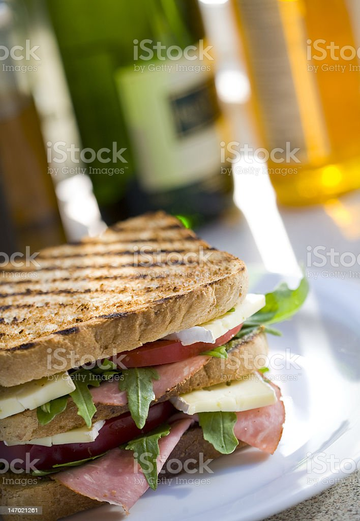 Triple-decker sandwich royalty-free stock photo