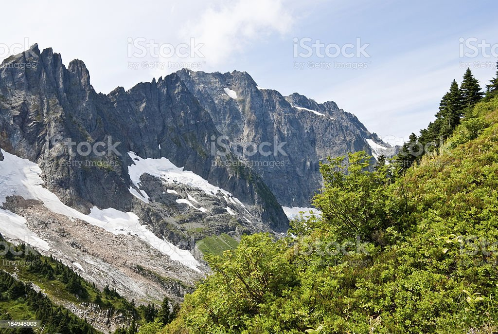 Triplets from Cascade Pass royalty-free stock photo
