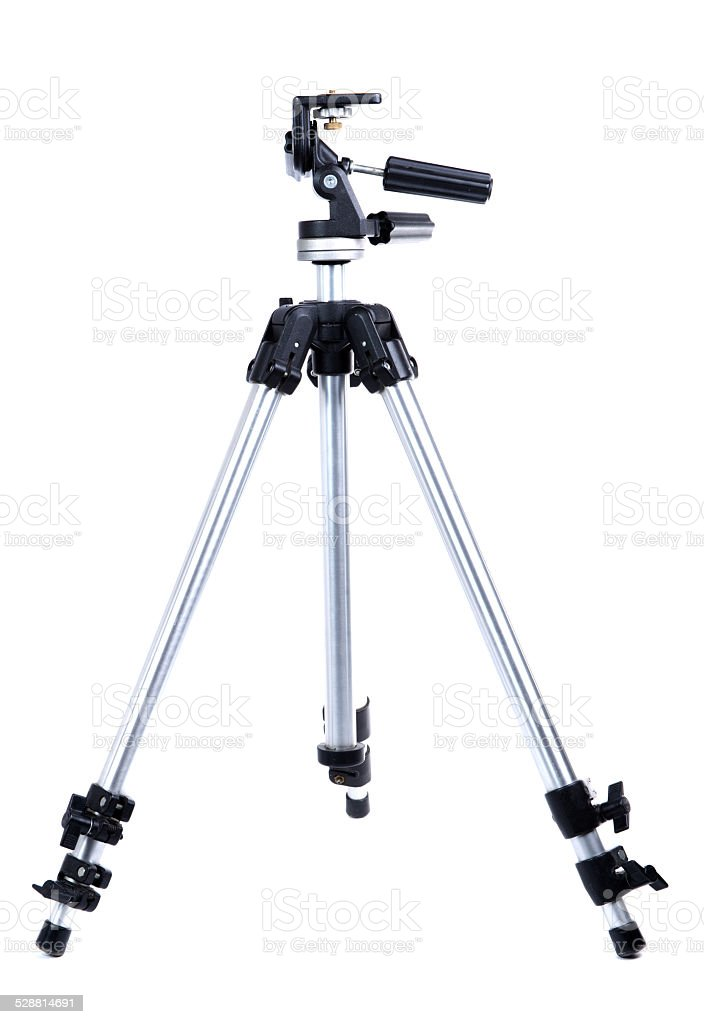 tripod camera stock photo
