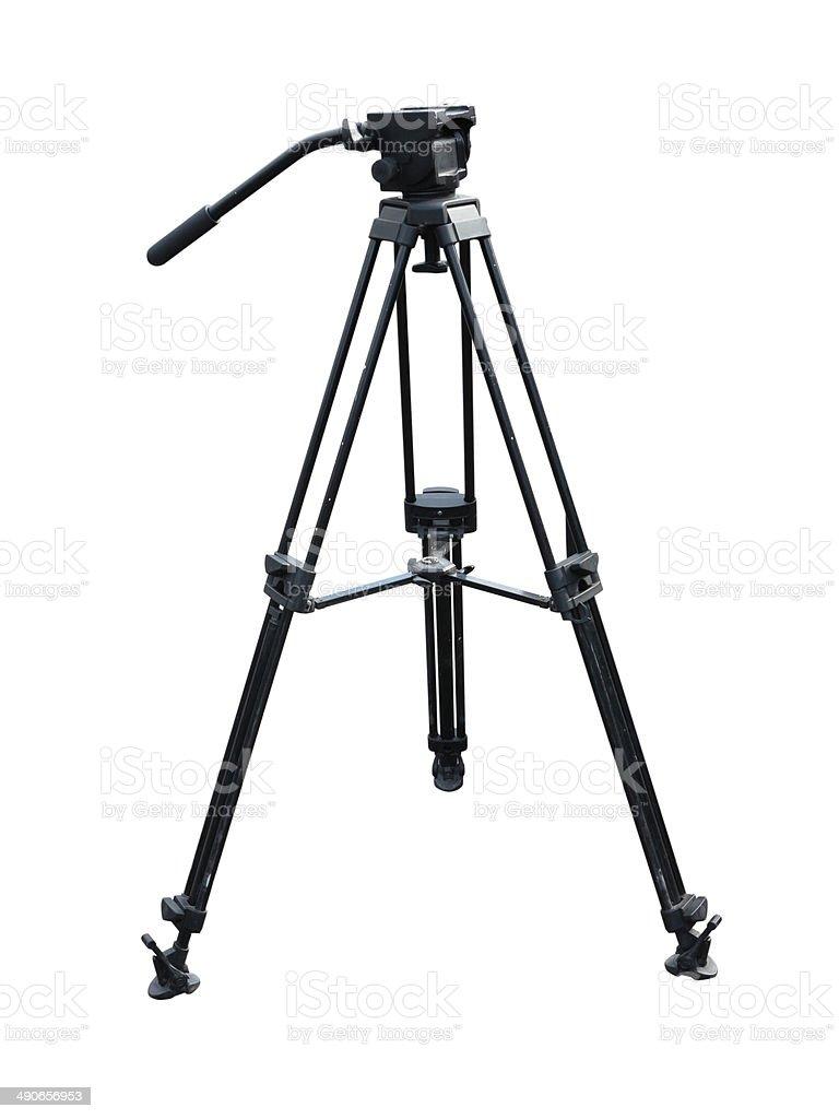 Tripé para fotografia e as câmaras de vídeo, isolado sobre o branco foto de stock royalty-free