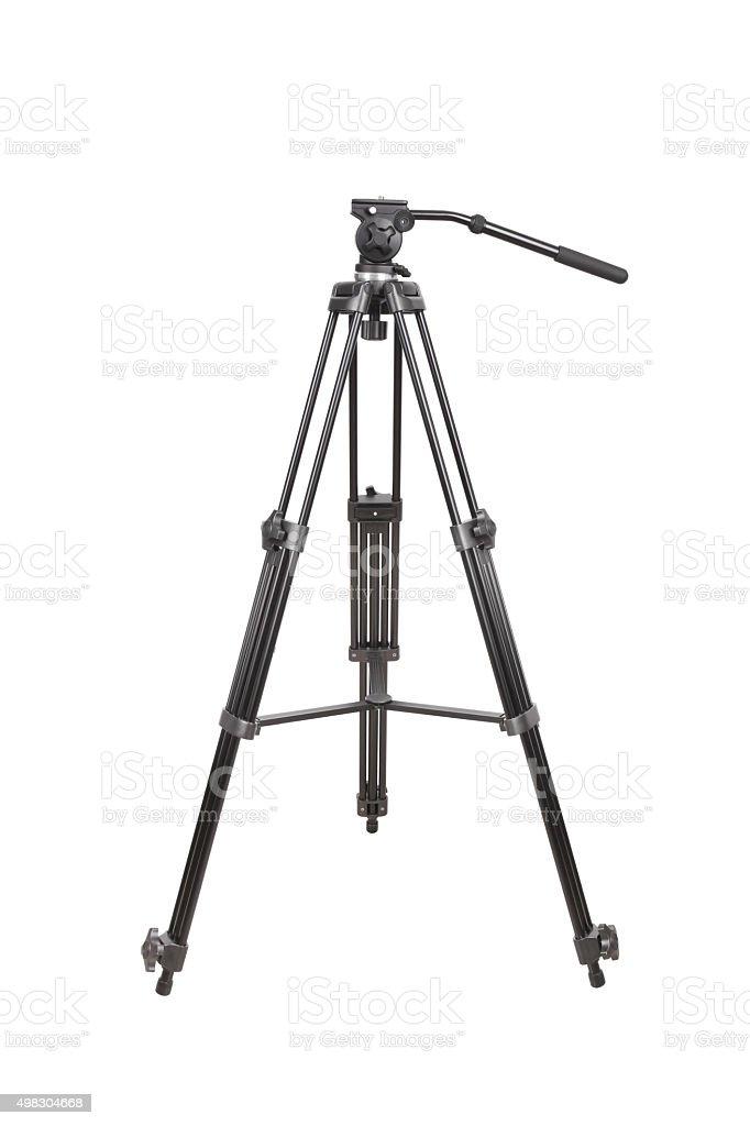 Tripod for Video Camera stock photo