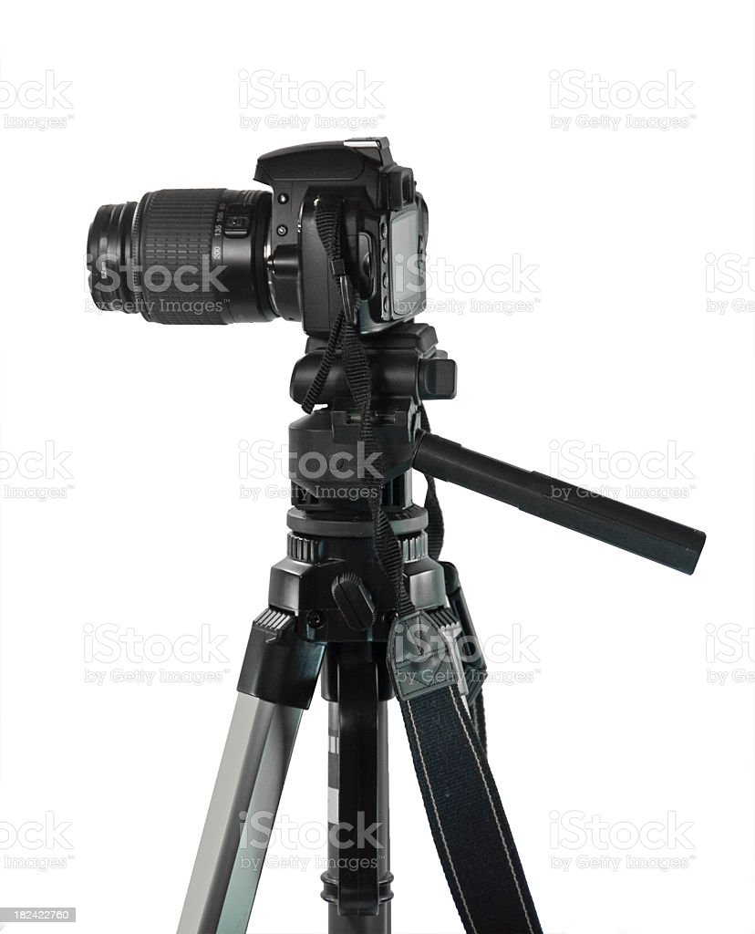 Tripod with Clipping Path Side view royalty-free stock photo