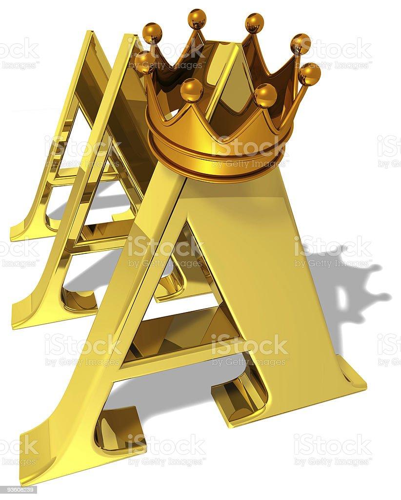Tripple A ranking AAA royalty-free stock photo